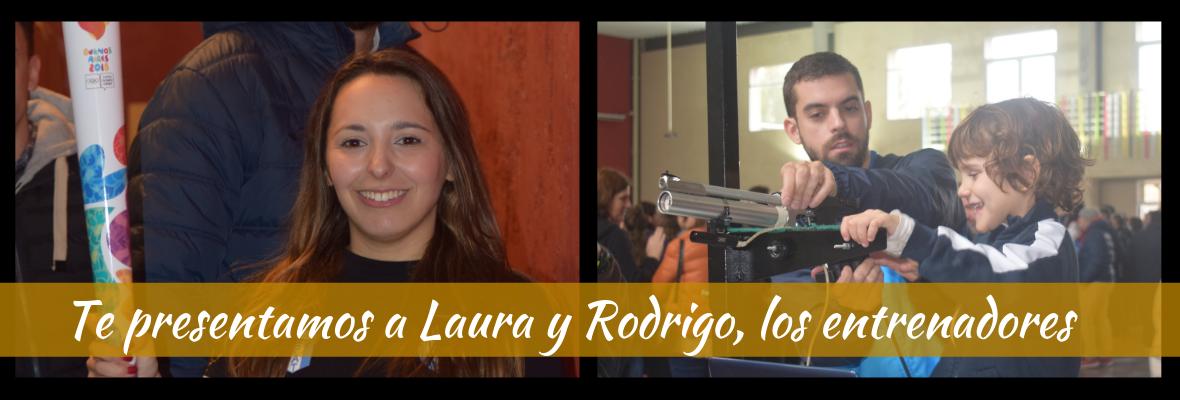 Laura y Rodrigo, los entrenadores de la Escuela de Tiro Juvenil de la ATGQ